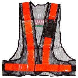 V型反光背心-附資料/手機袋★網狀布料★魔鬼氈黏貼 可調鬆緊★二種顏色提供選擇
