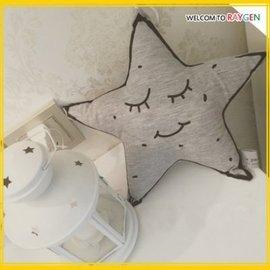 星之夜星星月亮夜光安撫抱枕 裝飾玩偶 微笑星星【HH婦幼館】