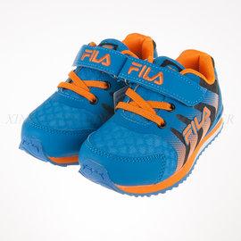 6折出清~FILA 兒童 輕量慢跑鞋-藍黑橘 (2-J829P-306)