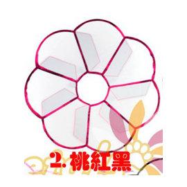 ^(TWC~^) Petals 花朵寵物防舔咬頭套保護圈~醫療版 ~^(M~桃紅黑^)
