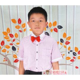 兒童條紋襯衫 男花童 鋼琴演奏 表演 結婚畢業典禮 拍照 粉色條紋 ~愛米粒~