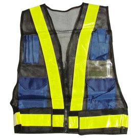 日式反光背心~附資料袋~網狀布料 輕盈、透氣~多個收納袋 應用