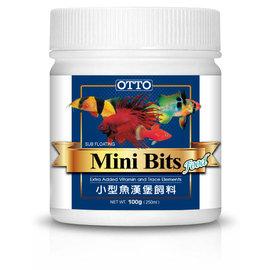 FF~01M 微笑的魚水族~ OTTO~奧圖~小型魚漢堡顆粒飼料^(M^) 100g~燈科