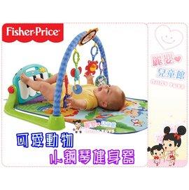 麗嬰兒童玩具館~費雪牌專櫃Fisher Price-可愛動物小鋼琴健身器.踢踢腳鋼琴健力架