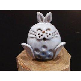 【啟秀齋香品軒】十二生肖 玉兔 香插 香座 高約4.5公分 居家擺飾擺件 茶寵 鶯歌陶瓷藝品