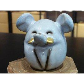【啟秀齋香品軒】飛象 香插 香座 高約4.5公分 居家擺飾擺件 茶寵 鶯歌陶瓷藝品