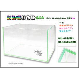 ~魚舖子~高 彩色膠超白缸 ^(30cm綠色款^)內附防震底墊∼超漂亮、 賣