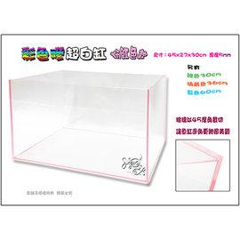 ~魚舖子~高 彩色膠超白缸  45cm粉紅色款 內附防震底墊∼超漂亮、 賣