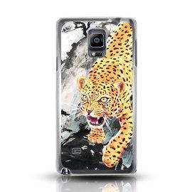 ibowmore Samsung Note4 鉑金浮雕彩繪系列 款手機殼 保護殼~黃金花豹