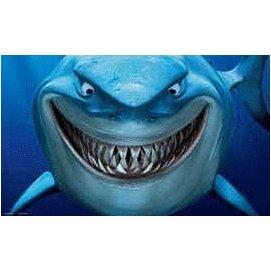 微笑的魚水族~美國Disney~迪士尼 ~海底總動員飾品 背景圖 NMBG5 鯊魚布魯斯~