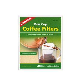 【COGHLANS 加拿大】新款 進口材質濾泡式咖啡濾紙(40片組合+固定棒)非掛耳式.咖啡過濾除渣.適戶外登山露營自助旅行 9570