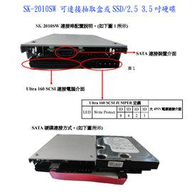 SK~2010SW SATA轉3.5吋SCSI U160 68針 工業用主機電腦