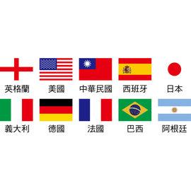 國旗紋身貼紙3X2公分^(10張^)可混搭^(英格蘭、美國、 、西班牙、 、義大利、德國、