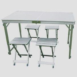 DJ~6722 方管鋁框桌附鋁合金椅^(附外袋^)~蓁蓁大賣場~戶外休閒 登山露營用品