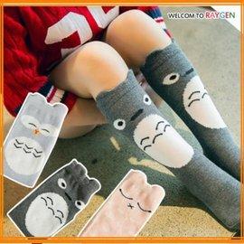 襪子 超萌龍貓 貓頭鷹 貓咪 立體中筒襪【HH婦幼館】