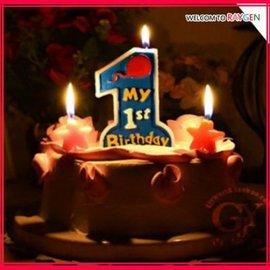 蛋糕蠟燭 無煙環保數字蠟燭一周歲慶典派對【HH婦幼館】
