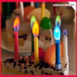 蛋糕蠟燭 夢幻五彩繽紛火焰蠟燭 5支裝【HH婦幼館】