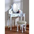 Asllie 古典化妝桌椅組-白色