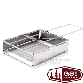 【美國 GSI】Glacier Stainless Toaster 不鏽鋼吐司烤盤.烤麵包架/採用18/8(304)食品級不鏽鋼/方便.露營.戶外野炊.聚會.甜點/65610 銀色