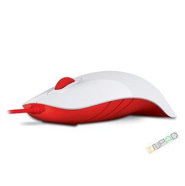 ^~硬派精璽^~MorroLogic SHARK繽紛蘋果鯊光學滑鼠^|白紅 0266000