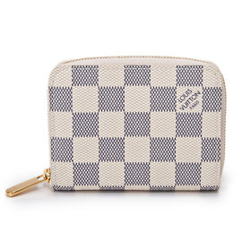 Louis Vuitton N63069 白棋盤格紋信用卡拉鍊零錢包 價 11 600