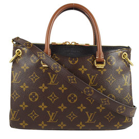 Louis Vuitton LV M41218 PALLAS BB 花紋兩用包.黑 價 6