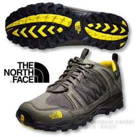 【美國 The North Face】男新款 ALTEO GTX Gore-Tex 低筒登山健行鞋.多功能越野跑鞋.慢跑鞋/ A2X8 咖啡棕/光譜黃