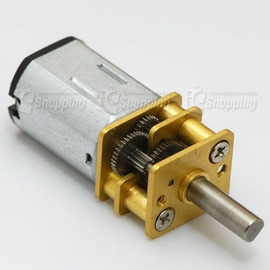 微型減速馬達3V 25rpm^(全金屬齒輪^) ~ 軸長:10mm,體積小、扭力大 耐用不