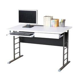 ~Homelike~馬克120cm辦公桌~加厚桌面^(附抽屜.鍵盤架^) 工作桌 電腦桌