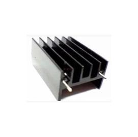 三極管 黑色雙針散熱塊 散熱鋁塊23*16*30mm  導熱 絕緣 散熱片 散熱墊 導熱墊