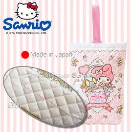 製  三麗鷗 sanrio Melody 美樂蒂 置物袋 掛袋 收納袋~ 可掛嬰兒床喔 ~