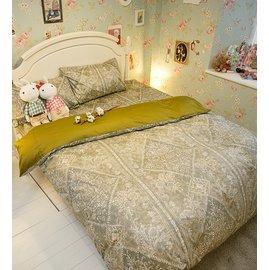 雅典娜的家 雙人加大床包雙人薄被套4件組 純精梳棉  製