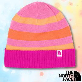 【美國 The North Face】新款 兒童雙面保暖帽.羊毛帽.保暖針織帽.保暖舒適_A6X6 亮桃粉