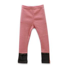 ~捷比 ~瑪寶樂~JVD35251~毛絨拼接褲管蕾絲滾邊內搭褲~二色
