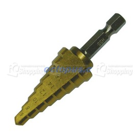 8段 鍍鈦階梯鑽 6~20mm^(六角柄^) ~ 鑽頭 金屬鑽頭 螺旋鑽頭•3680403