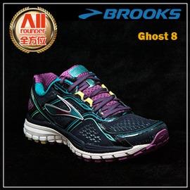 ~BROOKS~~全方位 戶外館~女款避震型慢跑鞋 Ghost 8 ~ 紫藍色^(931b