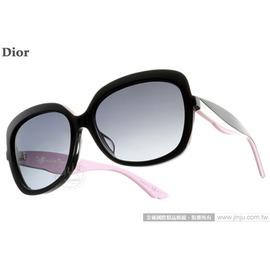 Dior 太陽眼鏡 ENVOLF LWRHD  黑~粉紅  典雅柔美方框女款 墨鏡 # 金
