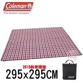探險家戶外用品㊣CM-26532 美國Coleman 300紅格紋刷毛地毯 295x295CM刷毛毯帳棚內墊帳篷地布防潮墊野餐墊