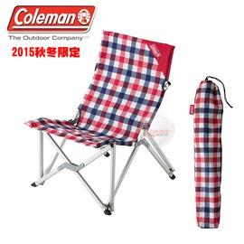 探險家戶外用品㊣CM-26563 美國Coleman 紅格紋樂活椅 鋁合金休閒椅 新大川椅 折疊椅 摺疊椅 導演椅 野營椅