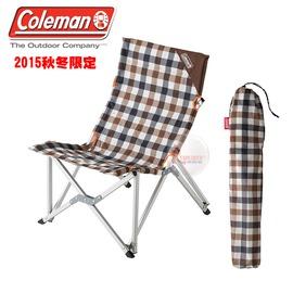 探險家戶外用品㊣CM-26564 美國Coleman 棕格紋樂活椅 鋁合金休閒椅 新大川椅 折疊椅 摺疊椅 導演椅 野營椅