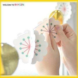 DIY創意派對繽紛花朵立體紙彩旗 節日裝飾佈置【HH婦幼館】