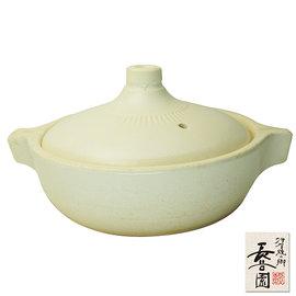 ~ 長谷園伊賀燒~日式個人米白陶鍋