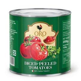 義大利 ORO 去皮切碎番茄 2550g 桶 經濟大包裝