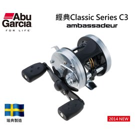 ◎百有釣具◎ABU  經典Classic Series C3-新改版 4600型 鼓式路亞捲線器- 右手捲