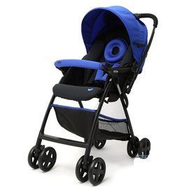 【紫貝殼】『GCH20-2』奇哥 Joie Float 雙向輕量推車(附雨蓬.藍色)【單手收合/推車4.8kg/51公分高景觀座椅】【奇哥正品】