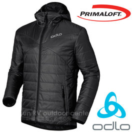 【瑞士 ODLO】男 7折 Primaloft 超輕防風防潑水保暖連帽外套/夾克(可雙面穿)科技羽絨/透氣排汗/適登山賞雪(非mont-bell) 525162 石墨灰
