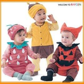 日系草莓萬聖節南瓜蜜蜂可愛造型服哈衣套裝【HH婦幼館】