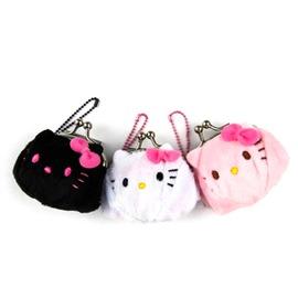 Hello Kitty迷你珠扣吊飾零錢包 收納包 迷你珠扣零錢包