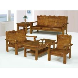 ~KC14~1~ 102型樟木色組椅^(整組^)^(玻璃另購^)