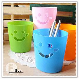 【Q禮品】B2642 糖果笑臉收納桶/微笑表情/置物桶/桌上型垃圾桶/筆筒/收納盒/車用垃圾筒/贈品禮品/紙簍